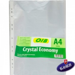 Папка джоб CRYSTAL ECONOMY A4