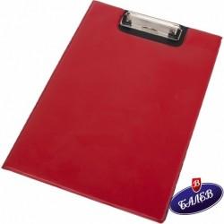 Клипборд с капак червен