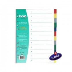 EXXO Разделител PP A4 12цвят