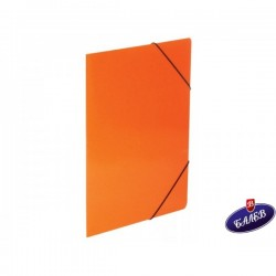 Папка картонена с ласт. оранжева