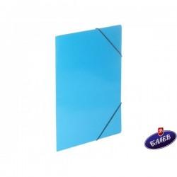 Папка картонена с ласт. синя