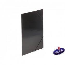 Папка картонена с ласт. черна
