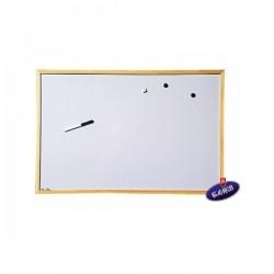 Дъска бяла магнитна 40x60 дървена рамка
