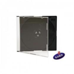 Кутия за CD/DVD единична тънка черна