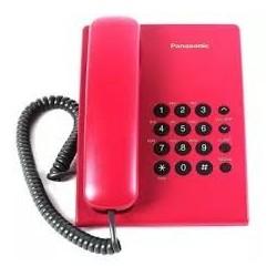 Стационарен телефон Panasonic KX-TS500 - червен