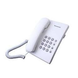 Стационарен телефон Panasonic KX-TS500 - бял