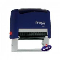 TRAXX Печат PR40 22/58мм син 9013