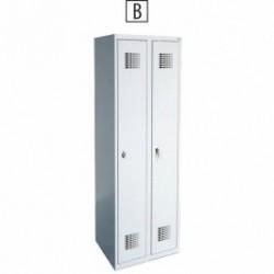 Метален гардероб 320Е MALOW 60/49/180 ДВОЕН