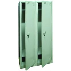 Метален гардероб двоен 600/450/1850 мм