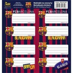 Barcelona ученически етикети 8бр. FC-201