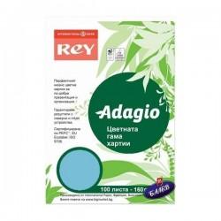 ADAGIO картон Bright Blue А4 100л.
