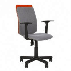 Работен стол VICTORY сив/оранж