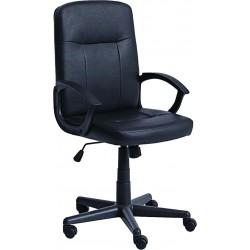 Офис стол CARGO черен еко кожа