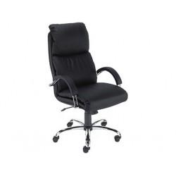 Директорски стол NADIR 5059 STEEL CHROME черен