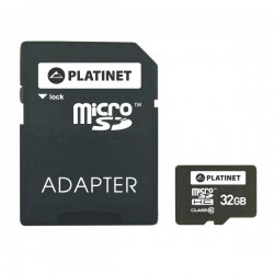 Micro SD картa за памет 32 GB + адаптор PLATINET
