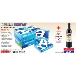Копирна Хартия А4 Double A EveryDay + Червено Вино Telish Cabernet Sauvignon & Merlot