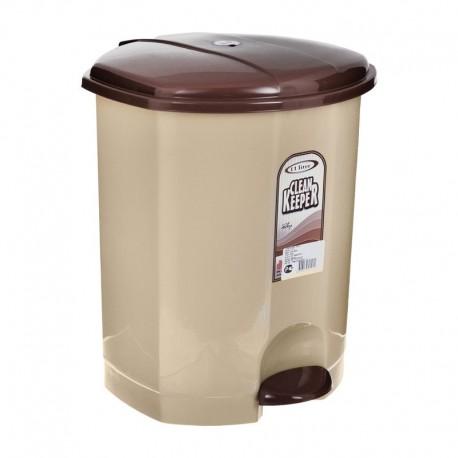 Кош за отпадъци, пластмасов с педал за отваряне на капака 8,5 литра