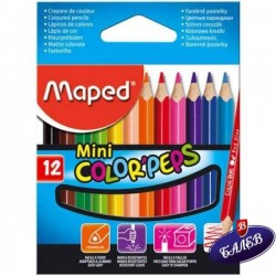 MAPED COLOR PEPS 12цв. къси