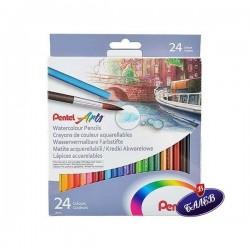 PENTEL Моливи акварелни 24цвята