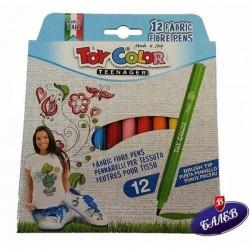 TC Флумастери за текстил 12 цвята