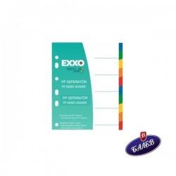 EXXO Разделител PP A4 10цвята