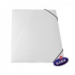Папка картонена с ласт. бяла