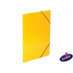 Папка картонена с ласт. жълта