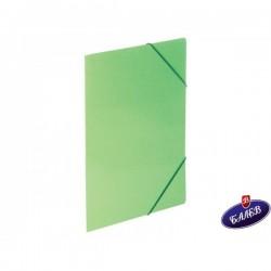 Папка картонена с ласт. зелена