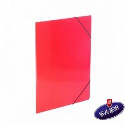 Папка картонена с ласт. червена