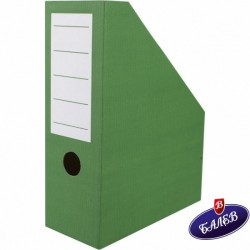 Вертикален бокс картон зелен