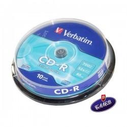VERBATIM CD-R 700MB Шпиндел 10бр.