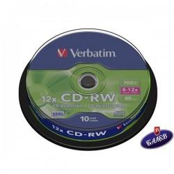 VERBATIM CD-RW 700MB Шпиндел 10бр.