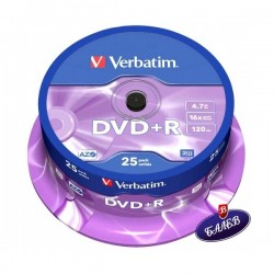 VERBATIM DVD+R Шпиндел 25бр.