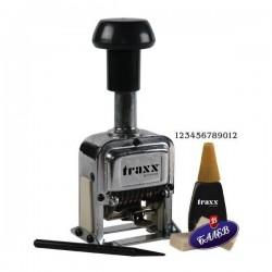 TRAXX Номератор 12 цифри метален
