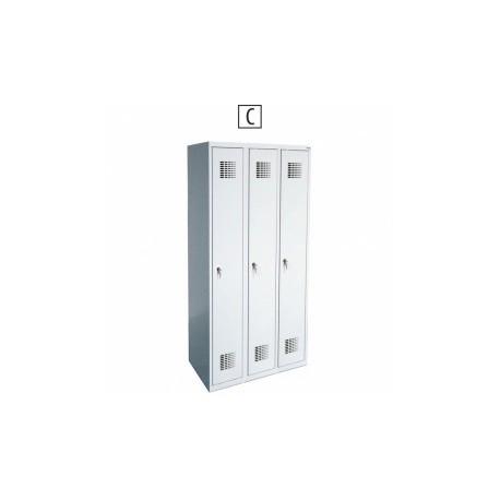 Метален шкаф 330Е MALOW 90/49/180 ТРОЕН