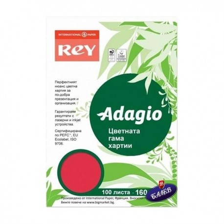 ADAGIO картон Red А4 100л.