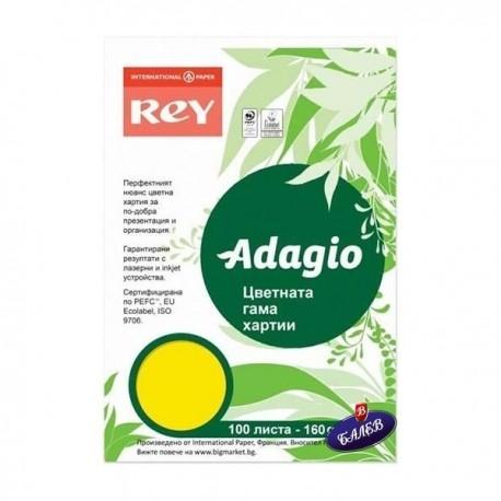 ADAGIO картон Yellow А4 100л.
