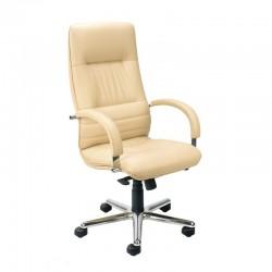 Директорски стол LINEA STEEL естествена кожа