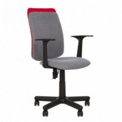 Работен стол VICTORY сив/червен