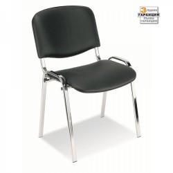 Посетителски стол ISO CHROME черен