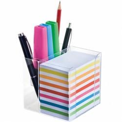 Цветно хартиено кубче с поставка