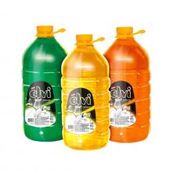 Elvi Препарат за миене на съдове Gel + Softener, лимон, 5 L