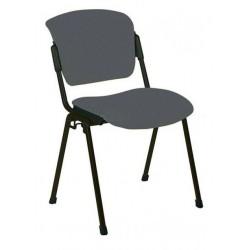 Посетителски стол ERA BLACK сив