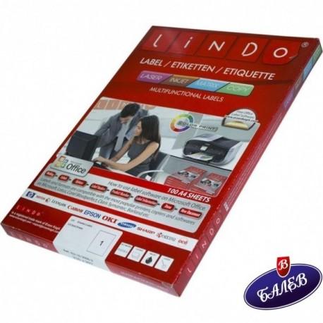LINDO етикети СЗ 52.5/29.7 40ет/л