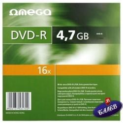 DVD-R в картонена опаковка OMEGA 1бр