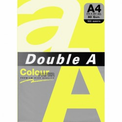 DOUBLE A хартия А4 100л Lemon