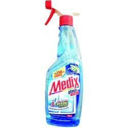 Препарат за почистване на стъкло Medix помпа 500 мл. +250 мл. ГРАТИС ябълка
