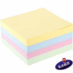 Кубче хартиено цветно